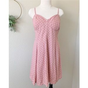 American Eagle Outfitters Bustier Polka Dot Dress